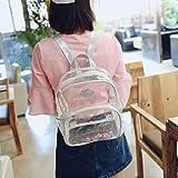 Zicac Transparent Rucksack Mädchen Studenten Rucksack Mini Schulranzen mit Laser-Schultergurte Daypack (Silber)