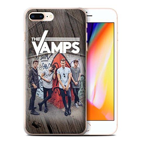 Officiel The Vamps Coque / Etui pour Apple iPhone 8 Plus / Esquisser Design / The Vamps Séance Photo Collection Effet Bois