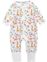 Baby Overalls Mädchen Schlafanzug Baumwolle Stramper Spielanzug Säugling Langarm Body Reißverschluss