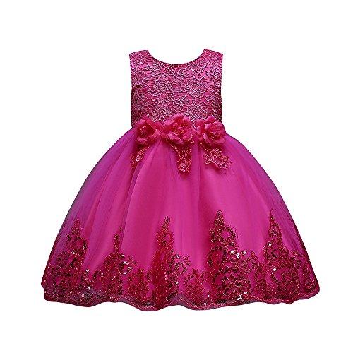 Baby Mädchen Prinzessin Kleid Cramberdy Taufkleid Festlich Kleid Hochzeit Blumenmädchenkleider Partykleid Festzug Babybekleidung Babykleid Taufkleid Festlich Kleid Ärmellos Spitze Abendkleid