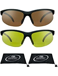 proSPORTsunglasses Gafas de sol bifocales con marco sin montura. Lentes de  cobre de humo, 90053a3626