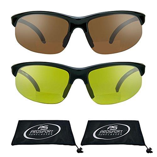 e3b62aa2ef proSPORTsunglasses Semi Sin Rebordes Azul Del Bloqueador De Visión De Hd  Bifocales Gafas De Sol (