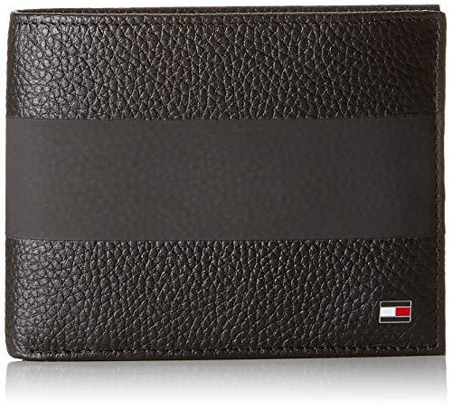 Tommy Hilfiger Herren Block Stripe Extra Cc and Coin Geldbörse, Schwarz (Black), 1.5x9.8x13 cm