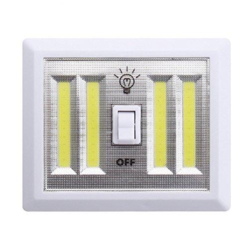 Iluminación Lámpara inalámbrica de luz nocturna blanca LED COB Lámpara de pared...