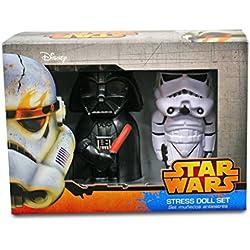 Sd Distribución - Pack muñecos antiestrés stormtrooper y darth vader star wars