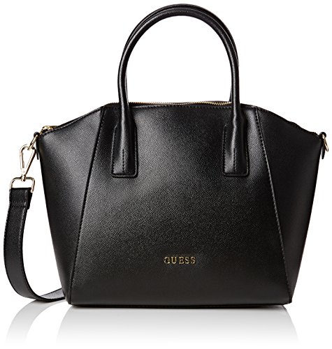 Guess Isabeau Medium Satchel Borsa a Mano, Donna, Nero