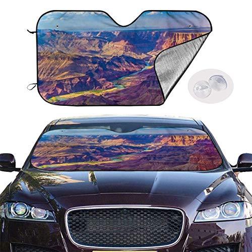 ghkfgkfgk Car Windshield Sun Shade SUV Trucks Automotive Minivan UV Sun Heat Reflector Visor Protector Front Window Sunshade-Colorado River Grand Canyon -