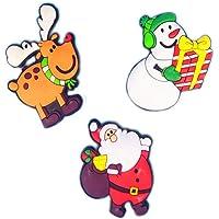 PULABO3 Pack Noël Aimant Réfrigérateur Cadeaux Noël Décoration De La Maison Enfants Aimant Réfrigérateur Forme Bonhomme…