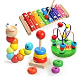 Best Toys For One Year Olds - 4 PCS Brilliant Basics Classic Wooden Toys Review