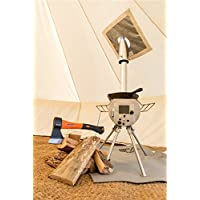 Silver-gem Bell tent portable woodburner stove 2