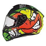 MT Targo Casco de moto de cara completa para camión, tapa de choque gráfico