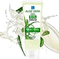 Gel Puro di Aloe Vera Fresca 227 g. - Dopo la rasatura e la depilazione - Idratante Viso e Corpo - bleumarine Bretania