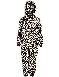 Pijama infantil de una pieza - Estampado de leopardo de las nieves