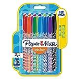Paper Mate InkJoy 100 CAP Wrap Stylos-billes, Pointe Moyenne, Assortiment de 18 Couleurs
