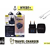 Samsung Galaxy Star Pro 7262 Compatible 2 In 1 Usb High Speed Heavy Duty Fast Charging Tested Charger BY HYCOT+