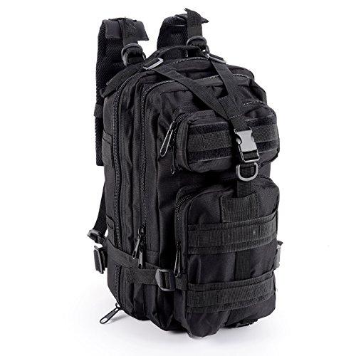 Imagen de cle de tous   bolsa militar táctico de hombre para acampada camping senderismo deporte negro