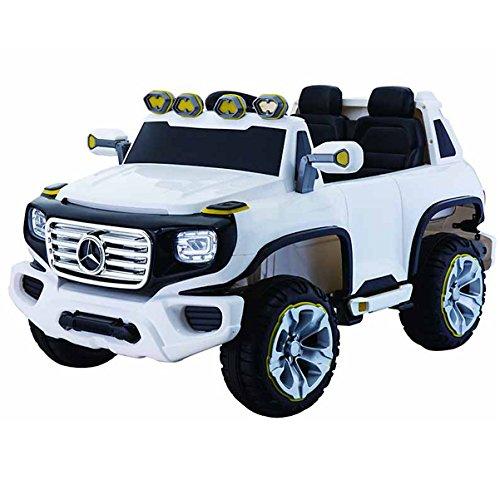 simron Mercedes G ener-G-force Geländewagen Kinderauto Elektro Kinderfahrzeug Ride-On 12V Kinder Elektroauto (Weiss)