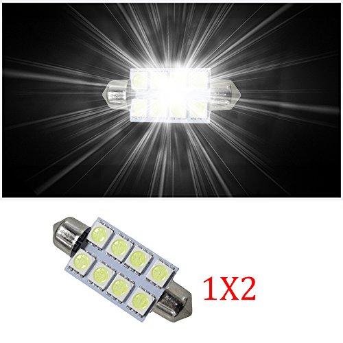 Muchkey 8x SMD C10W Festoon LED Intérieur ampoule pour Vauxhalll Astra MK2MK3M4Sri 2pcs Blanc 42mm