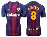 Trikot Kinder FC Barcelona 2017-2018 Home - Iniesta 8 (140)