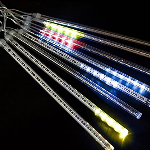 soxid (TM) Meteor Dusche LED Tube Lichterkette Licht LED aufhellen Meteor Tubes Weihnachtsbaum Deko Beleuchtung Weihnachten Dekoration multi