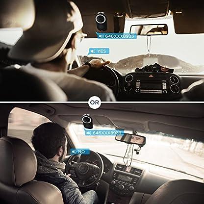 SOAIY-Auto-Kfz-Freisprecheinrichtung-Bluetooth-Freisprechanlage-Multipoint-Car-Kit-fr-Sonnenblende-Automatische-Abschaltung-Aktivierung-mglich-Musik-GPS-UnterstTzung-mit-Sprachsteuerung