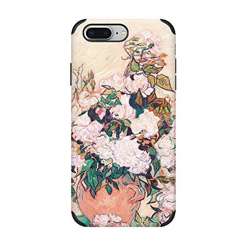 CUSTYPE iPhone 7 Plus Case iPhone 8 Plus Print Schutzhülle, Rose Art (Einzigartige Ein Von Einer Art Kostüm)