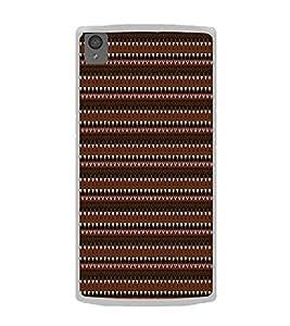 Fiobs Designer Back Case Cover for OnePlus X :: One Plus X (Multicolor Line Ethnic Design)