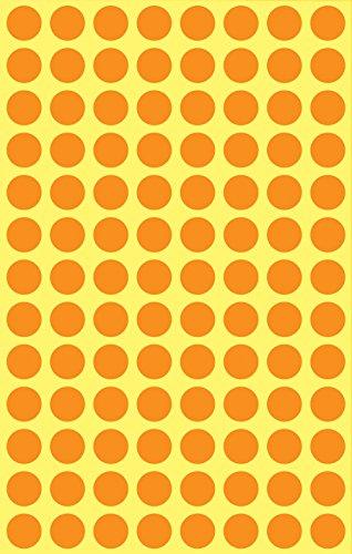 Avery 3178 Círculo Naranja 416pieza(s) - Etiqueta autoadhesiva (Naranja, Círculo, Papel, 8 mm, 416 pieza(s), 104 pieza(s))