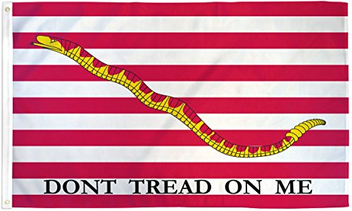 First Navy Jack Flag United States Navy Pennant Dont Tread on Me Banner 3x5 New - First Navy Jack