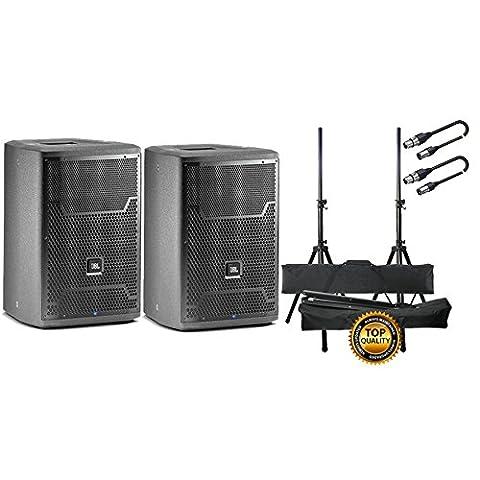JBL Set Paar Aktive Lautsprecher mit Tieftöner/Paar Stand/Kabel XLR/XLR 10mt Bundle