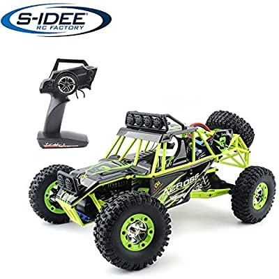 s-idee® 18111 S12428 RC Auto Buggy Monstertruck 1:12 mit 2,4 GHz 50 km/h schnell, wendig, voll digital proportional 4x4 Allrad WL Toys ferngesteuertes Buggy Racing RC Auto von s-idee®