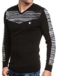 BLZ jeans - Pull fin noir col V