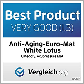White Lotus Kit d'acupression - tapis et oreiller - la 1re place des meilleurs sur Vergleich.org 2017- Les seuls oreillers et tapis fabriqués en Europe avec mousse à mémoire de forme, hypoallergénique