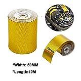 HugeAuto, nastro adesivo in lamina dorata, 10 x 5 cm, protezione termica ad alta temperatura, per tubi dell'olio, vapore, costruzioni