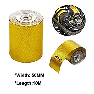 SANWAN – Cinta adhesiva de lámina dorada (10 x 5 cm), color dorado