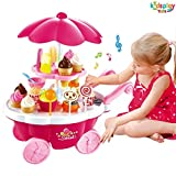 #8: Kids Pretend Toy Ice Cream & Sweets Cart with Music Role Play Toys