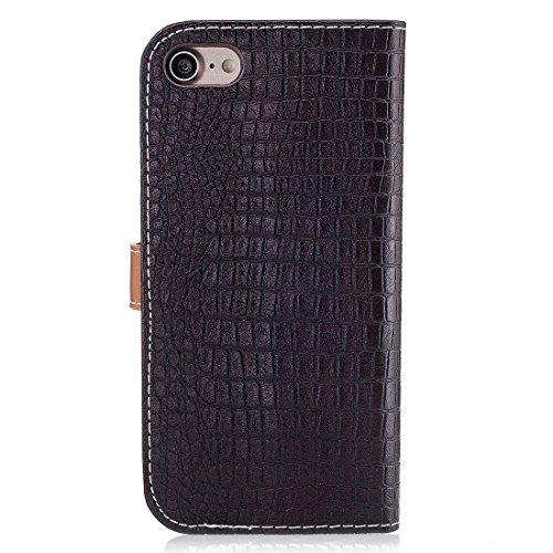 Yaking® Apple iPhone 7 PU Portefeuille Étui Coque Stand Flip Housse Couvrir impression Case Cover dark Brown
