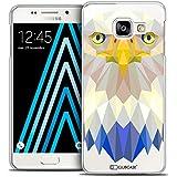 Caseink - Coque Housse Etui Galaxy A3 2016 (A310) [Crystal HD Polygon Series Animal - Rigide - Ultra Fin - Imprimé en France] - Aigle