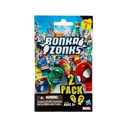 Marvel Universe Bonkazonks Series 1 Marvel Blind Bag ( 2 Random Figure spinners ) Tops by Marvel
