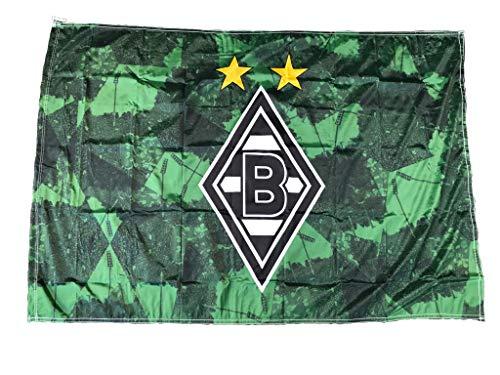FBS Borussia Mönchengladbach Hissfahne 150cm x 100xm 3RD Original Lizenzprodukt