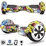 Magic Vida Skateboard Électrique Bluetooth 6.5 Pouces Hiphop avec LED Gyropode Smart...