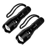 LED Taschenlampe,Vdealen Taktische Taschenlampe mit Superheller Hochleistungs - Tragbare Wasserdichte Taschenlampe fürs Freie mit Einstellbarem Fokus und 5 Lichtmodi für Campen Wandern usw