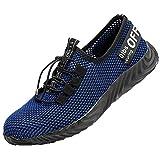 shoes Scarpe da Lavoro di Sicurezza per Uomo e Donna, Scarpe protettive in Rete Traspiranti Scarpe Leggere in Acciaio Antiscivolo, Adatto per Allenamento all'aperto/Arrampicata