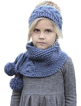 Baby knitting cap-scarf tuta, Woopower bor Girl creative berretto di lana autunno inverno caldo maglia cappello...