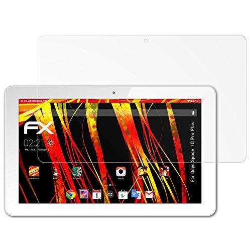 atFolix Schutzfolie kompatibel mit Odys Space 10 Pro Plus Bildschirmschutzfolie, HD-Entspiegelung FX Folie (2X)