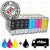 vhbw 10x kompatible Ersatz Tintenpatrone Druckerpatrone für Brother MFC-235C, MFC-240C wie LC-1000 / LC-970 Serie