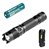 Olight Torches 1000 Lumens M1X Striker LED Tactical Torch 18650 Flashlight Cree XM L2 Variable Output Super Bright EDC Torch Light, Portable for Outdoor Lighting, with Holster and 3400mAh Battery