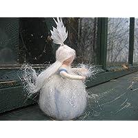 Schneeflöckchen, Filzfigur, Winterfigur