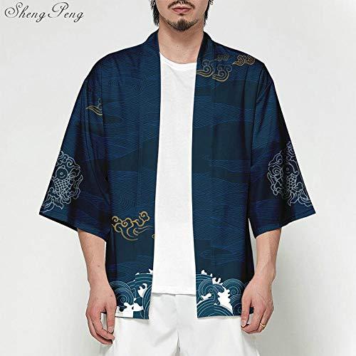 NO BRAND Kimono De La Rebeca De Los Hombres Japoneses