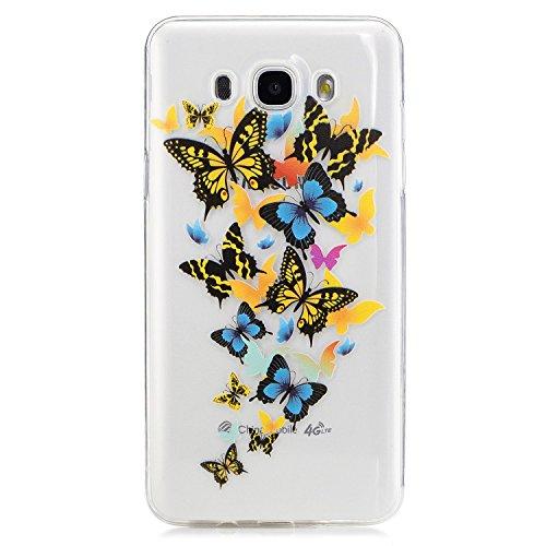 Für Samsung Galaxy J7 2016 TPU Silikon Handy Hülle Schutzhülle,Cozy Hut Scratch-Resistant Hülle Samsung Galaxy J7 2016 Crystal Clear Flexibel Gel TPU Silikon Schutzhülle Samsung J710F/Galaxy J7(2016) Transparent Bumper Case (Hut Billig)